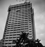Byggnader i svartvitt Royaltyfria Foton