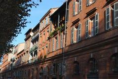 Byggnader i Toulouse Arkivfoto