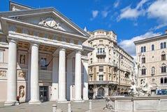 Byggnader i Trieste, Italien Fotografering för Bildbyråer