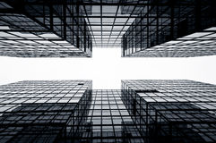 byggnader kommersiella glass Hong Kong Arkivbilder