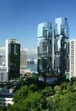 byggnader kommersiella samtidaa Hong Kong Royaltyfri Bild