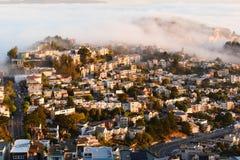 Byggnader landskap i San Francisco royaltyfria bilder