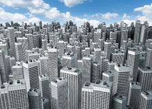 byggnader många som är moderna Arkivfoto