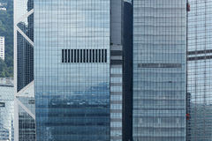 byggnader moderna Hong Kong arkivfoto