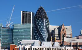 byggnader moderna london Royaltyfri Foto