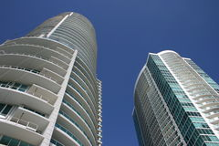 byggnader moderna miami royaltyfri foto