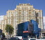 byggnader moderna moscow Arkivbild