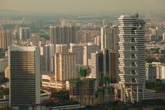 byggnader moderna nya singapore Royaltyfria Bilder