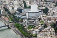 byggnader moderna paris Royaltyfri Foto