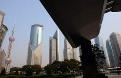 byggnader moderna shanghai Royaltyfri Fotografi