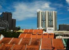 byggnader moderna singapore Fotografering för Bildbyråer