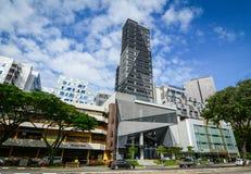 byggnader moderna singapore Royaltyfria Bilder