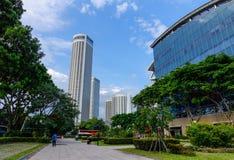 byggnader moderna singapore Royaltyfria Foton