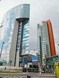 byggnader moderna vienna arkivfoto