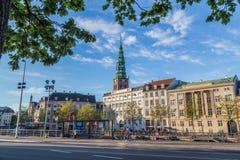 Byggnader och arkitektur i Köpenhamn fotografering för bildbyråer