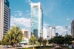 Byggnader och gator av Sao Paulo, Brasilien & x28; Brasil& x29; royaltyfria foton