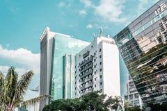 Byggnader och gator av Sao Paulo, Brasilien & x28; Brasil& x29; fotografering för bildbyråer