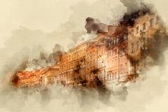 Byggnader och konstruktioner Arkivfoto