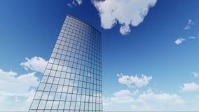 Byggnader och moln för skyskrapa företags lager videofilmer