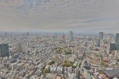 Byggnader och shoppar i en lantlig del av Tokyo Arkivbild