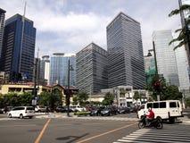 Byggnader och skyskrapor på Bonifacio Global City arkivfoto