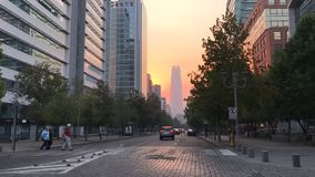 Byggnader och vägar i Santiago Chile