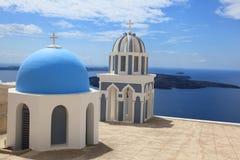 Byggnader i Santorini Royaltyfri Bild