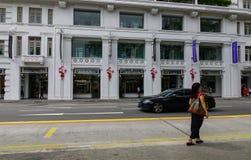 Byggnader på centret i Singapore Royaltyfri Fotografi