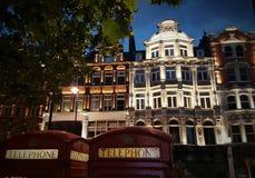 Byggnader på den Brompton vägen i London, England Fotografering för Bildbyråer