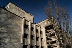 Byggnader på fyrkanten i Pripyati Royaltyfri Foto