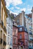 Byggnader på Ilen de la Citera i Paris Arkivbilder