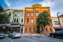 Byggnader på Main Street i Columbia, South Carolina Arkivbild