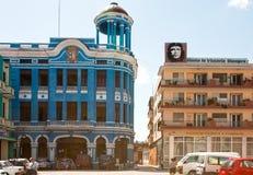 Byggnader på Plaza de los Trabajadores Arkivfoto