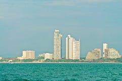 Byggnader på stranden Royaltyfria Foton