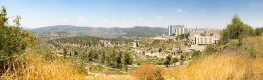 Byggnader panorama, Jerusalem för Hadassah vårdcentralsjukhus, Fotografering för Bildbyråer