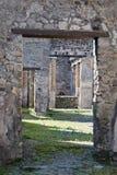 Byggnader Pompeii arkeologisk plats, nr Mount Vesuvius, Italien Royaltyfri Bild