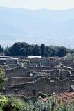 Byggnader Pompeii arkeologisk plats, nr Mount Vesuvius, Italien Royaltyfria Bilder