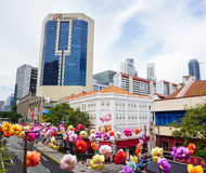 byggnader singapore Royaltyfri Foto