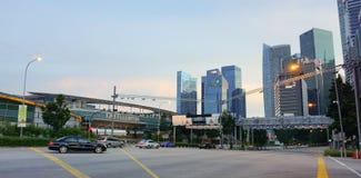 byggnader singapore Arkivfoton