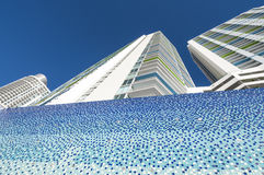 Byggnader som är i stadens centrum i Miami Fotografering för Bildbyråer