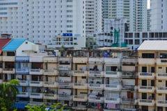 Byggnader som lokaliseras i Pattaya, Thailand Arkivfoton