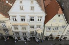 Byggnader som ses från över Royaltyfri Bild