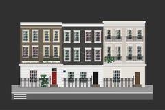 Byggnader ställde in - hus vektor illustrationer