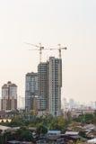 Byggnader under konstruktion Fotografering för Bildbyråer