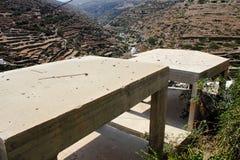 Byggnader under konstruktion i Kastro den traditionella byn, Sifnos ö, Grekland Arkivbilder