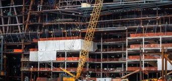 Byggnader under konstruktion i NYC Arkivbild