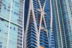 Byggnader under konstruktion i stadens centrum Miami Florida Royaltyfri Bild