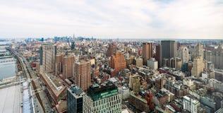 Byggnaderna av Manhattan Arkivbild