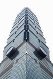 Byggnaderna planlägger högt i den Taipei staden, Taiwan Fotografering för Bildbyråer