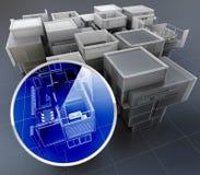 Byggnadsövervakningsystem Arkivfoto